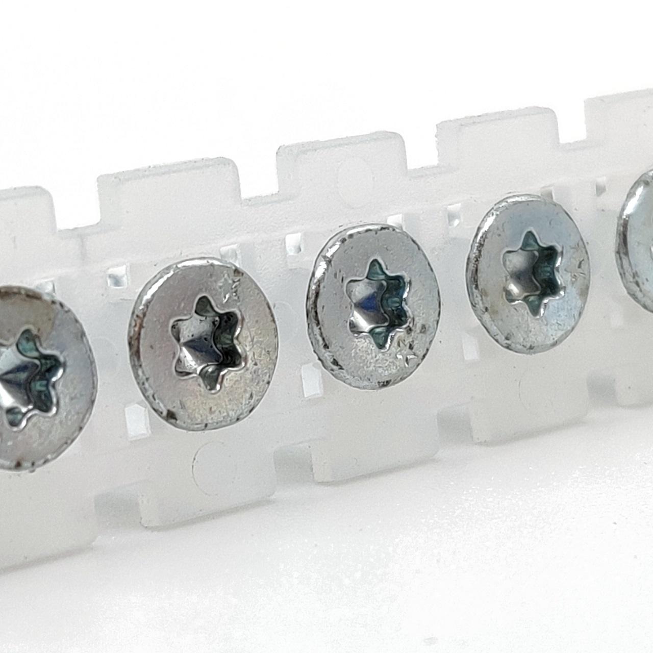 Magazinierte Spanplattenschrauben | hell verzinkt | TX20 | 4,0x50 | 1.000 Stk