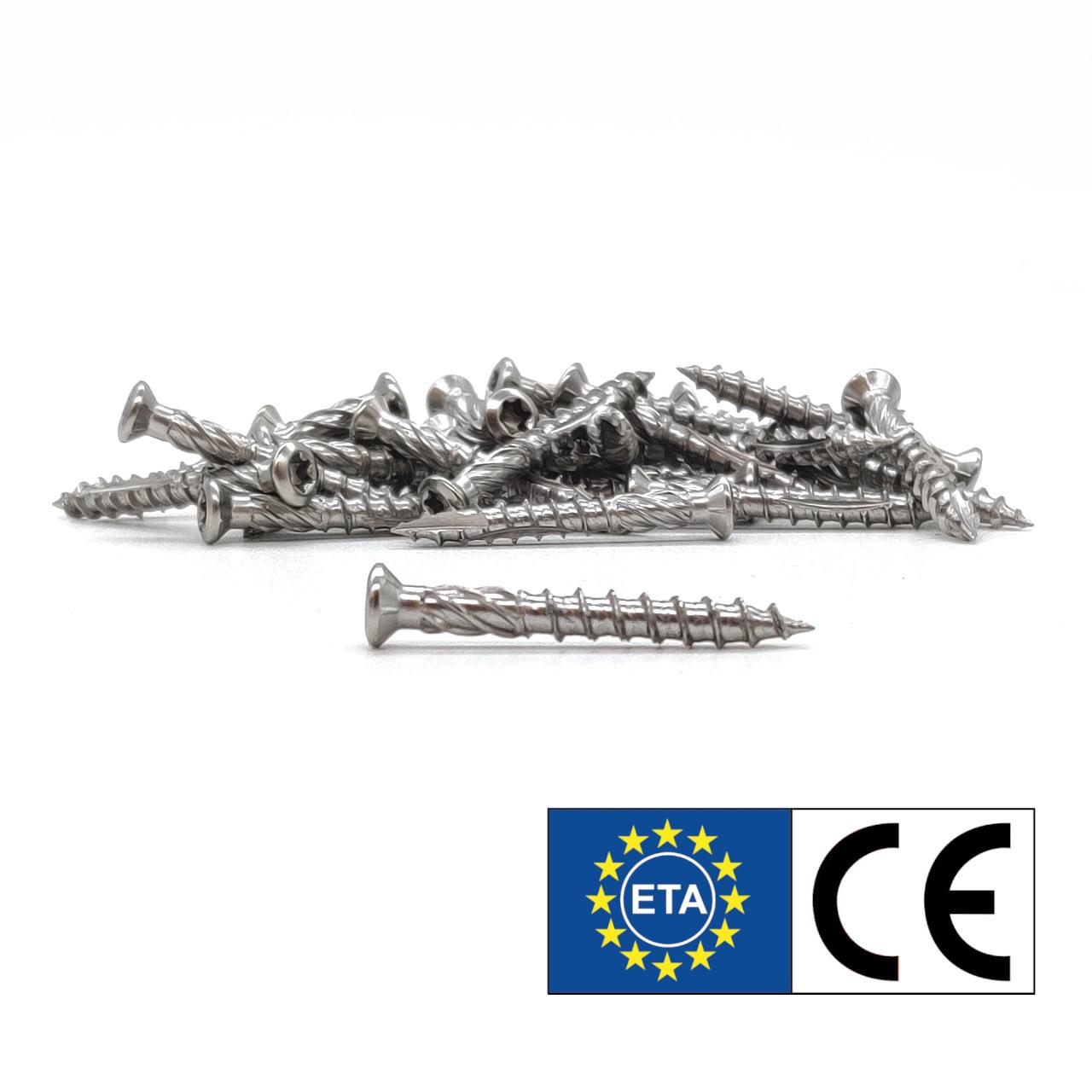 Terrassenschrauben | rostfreier Stahl | 5,0x70 | 200 Stk