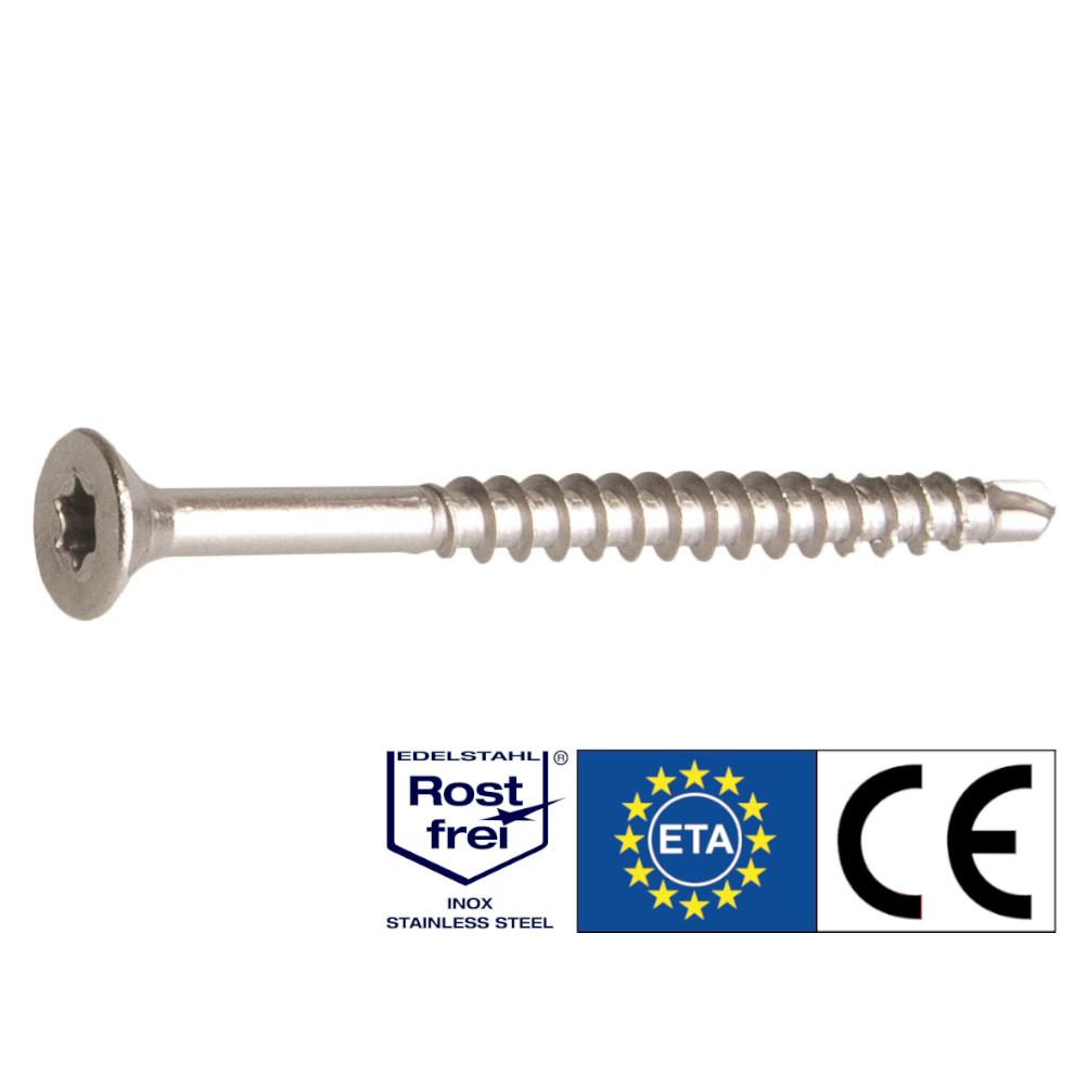 Drill Holzbauschrauben | rostfrei A2 | Bohrspitze | 5,0x60 | 200 Stk