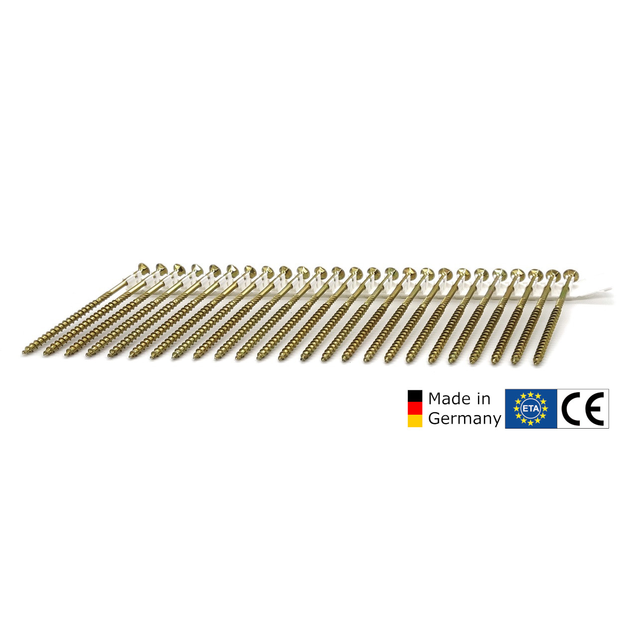adunox-ONE-XL TIMTEC®- Universalholzbauschrauben | gelb verzinkt | 6,0x100