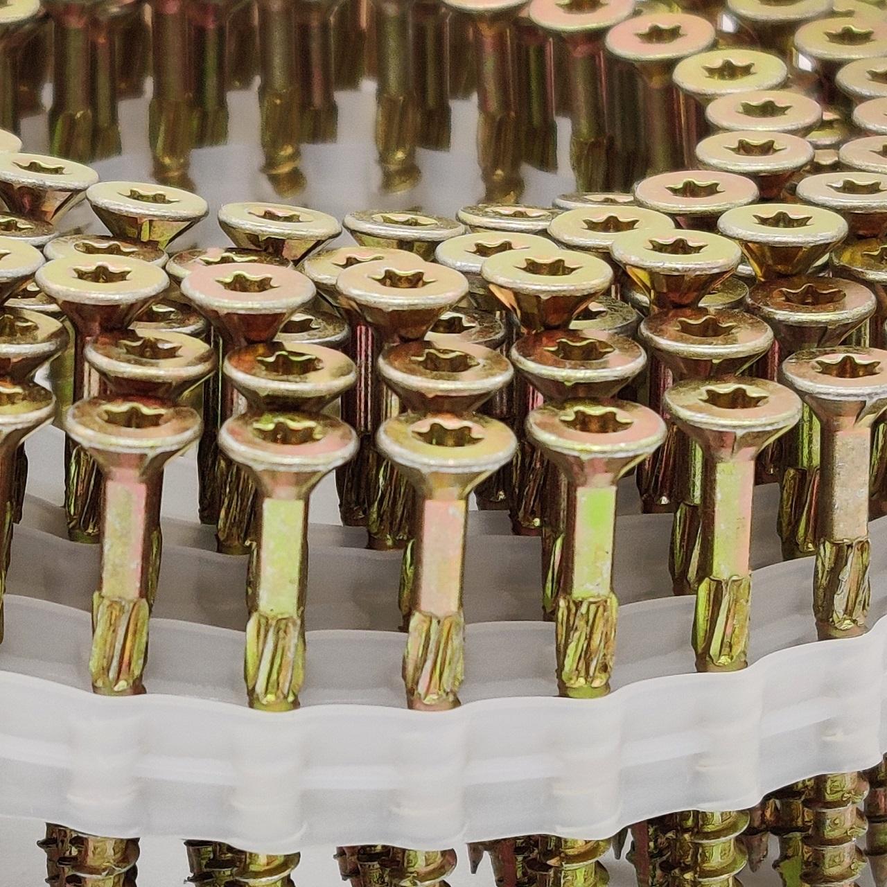 Coil adunox-SuperUni Holzschrauben / Spanplattenschrauben   gelb verzinkt   5,0x50   1.125 Stk