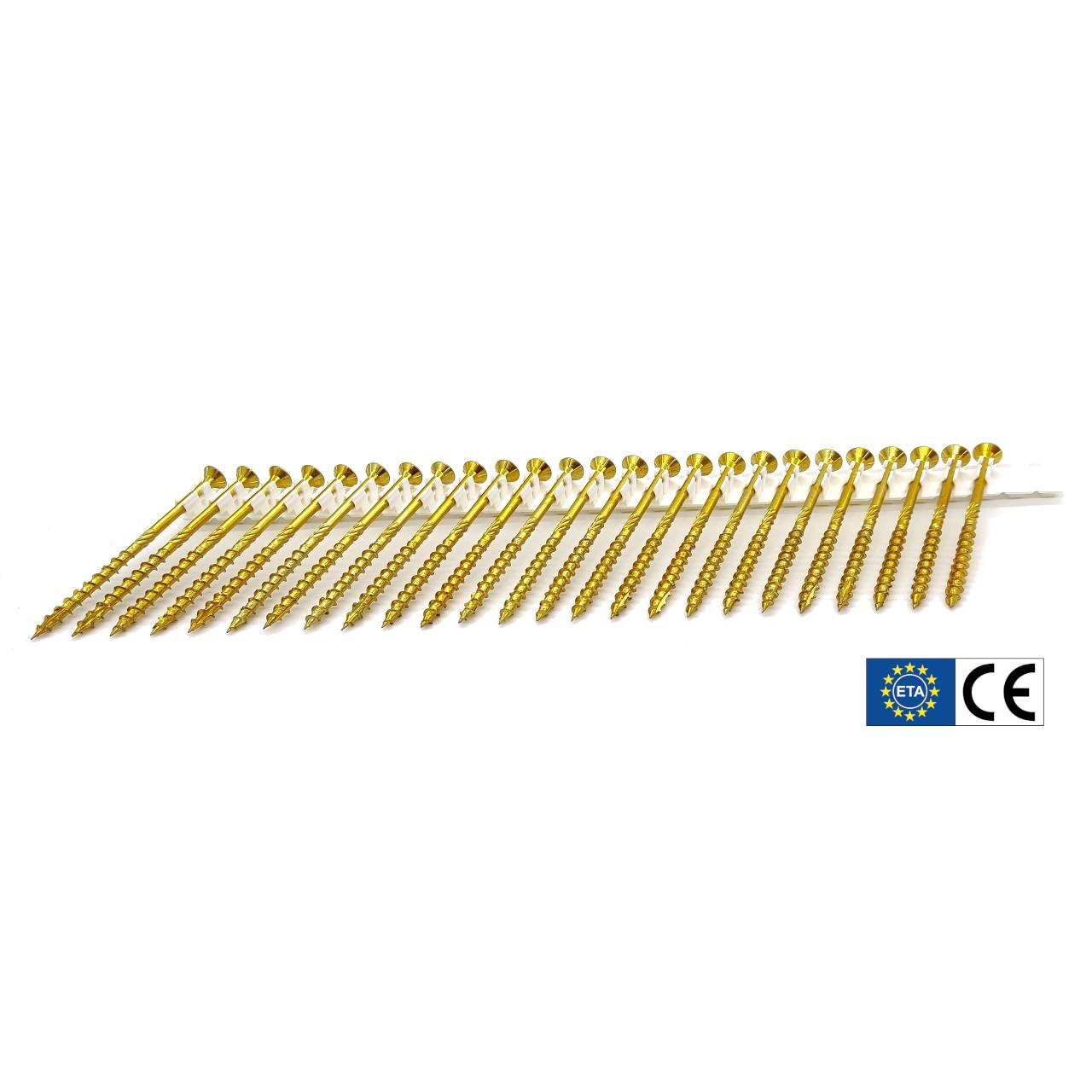 adunox-ONE-XL adunox-SuperUni Holzschrauben | gelb verzinkt | 6,0x140