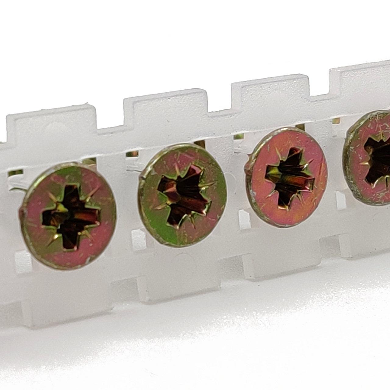 Magazinierte Universal Holzschrauben / Spanplattenschrauben   gelb verzinkt   Teilgewinde   4,0x50   1.000 Stk