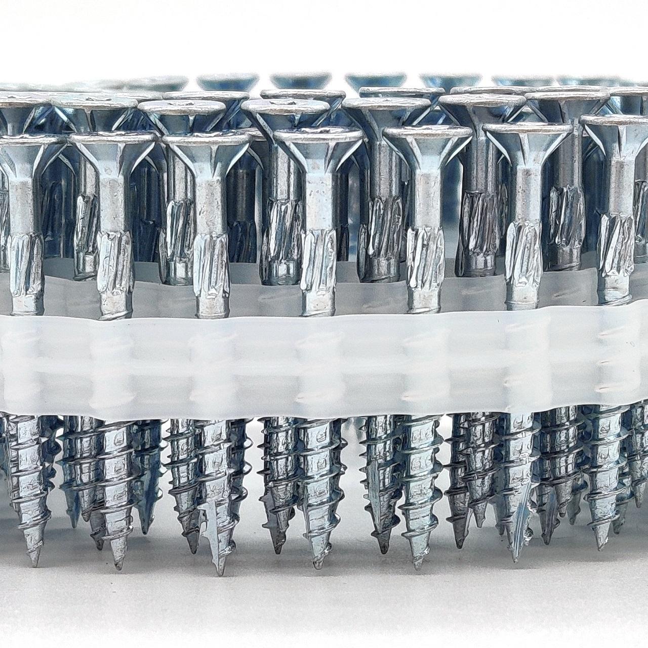 Coil adunox-SuperUni Holzschrauben / Spanplattenschrauben   hell verzinkt   4,0x30   2.500 Stk