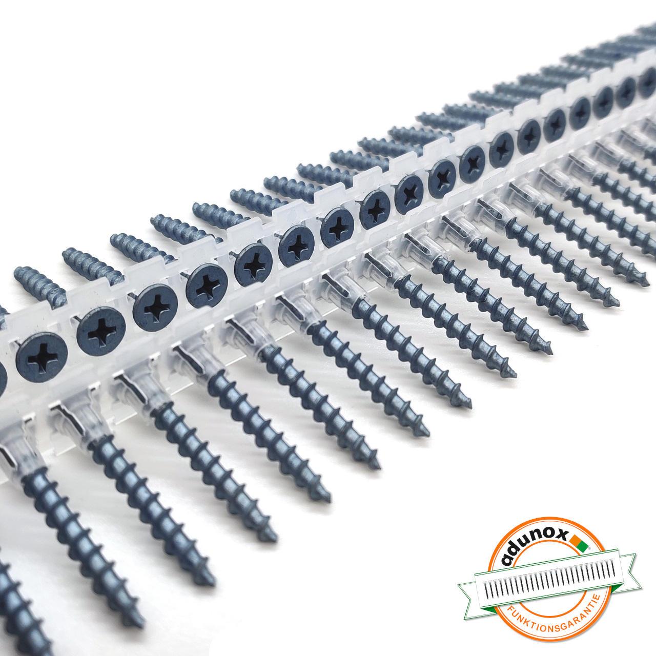 Magazinierte BLUEfast500® Schnellbauschrauben | Grobgewinde | 3,9x45 | 1.000 Stk