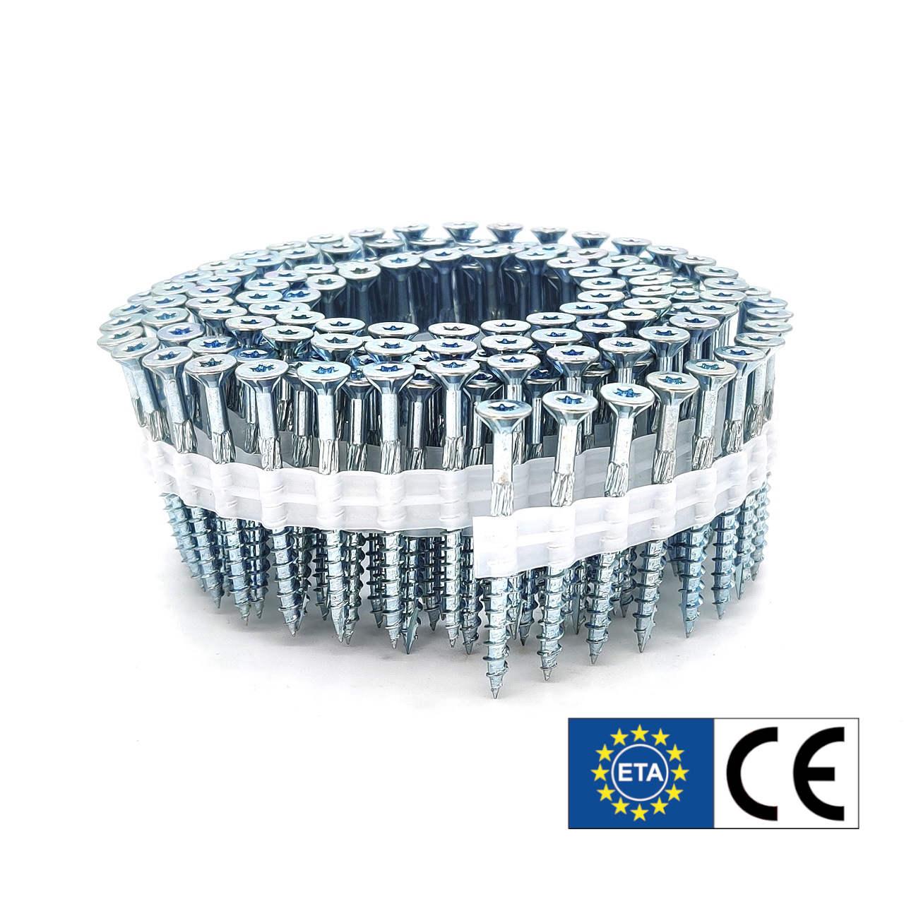 Coil adunox-SuperUni Holzschrauben / Spanplattenschrauben | hell verzinkt | ETA | 5,0x80 | 750 Stk