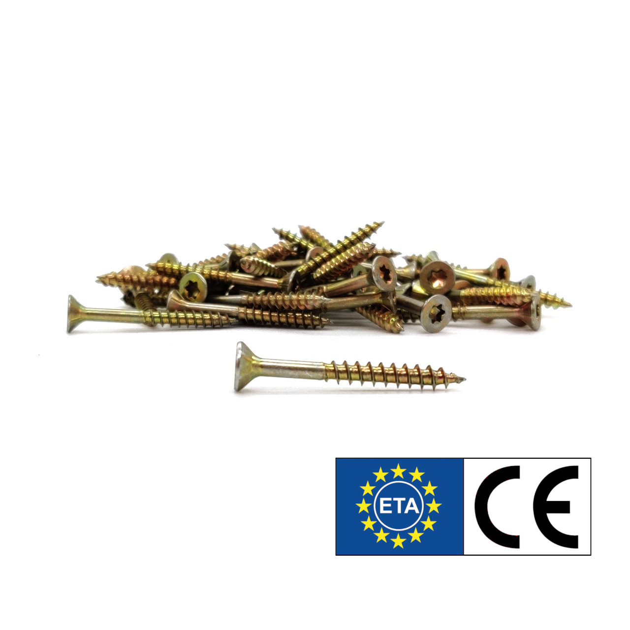 adunox SuperUni Holzschrauben / Spanplattenschrauben | gelb verzinkt