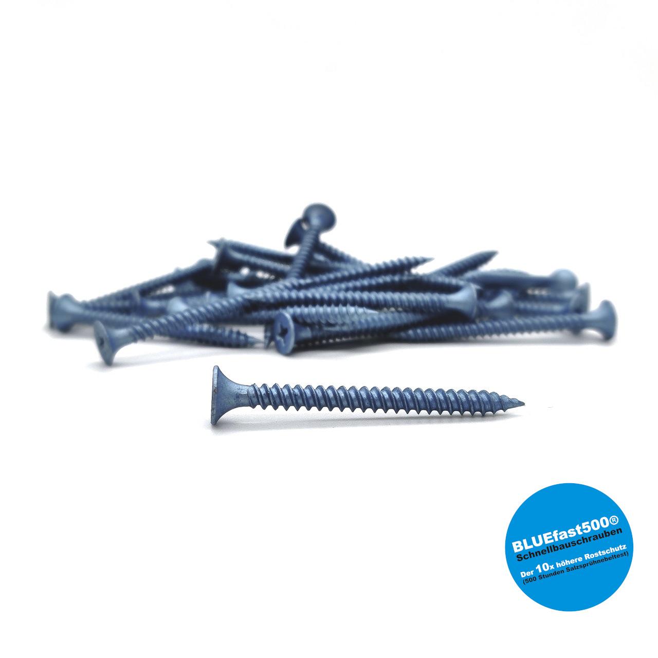 BLUEfast500® Schnellbauschrauben | Feingewinde