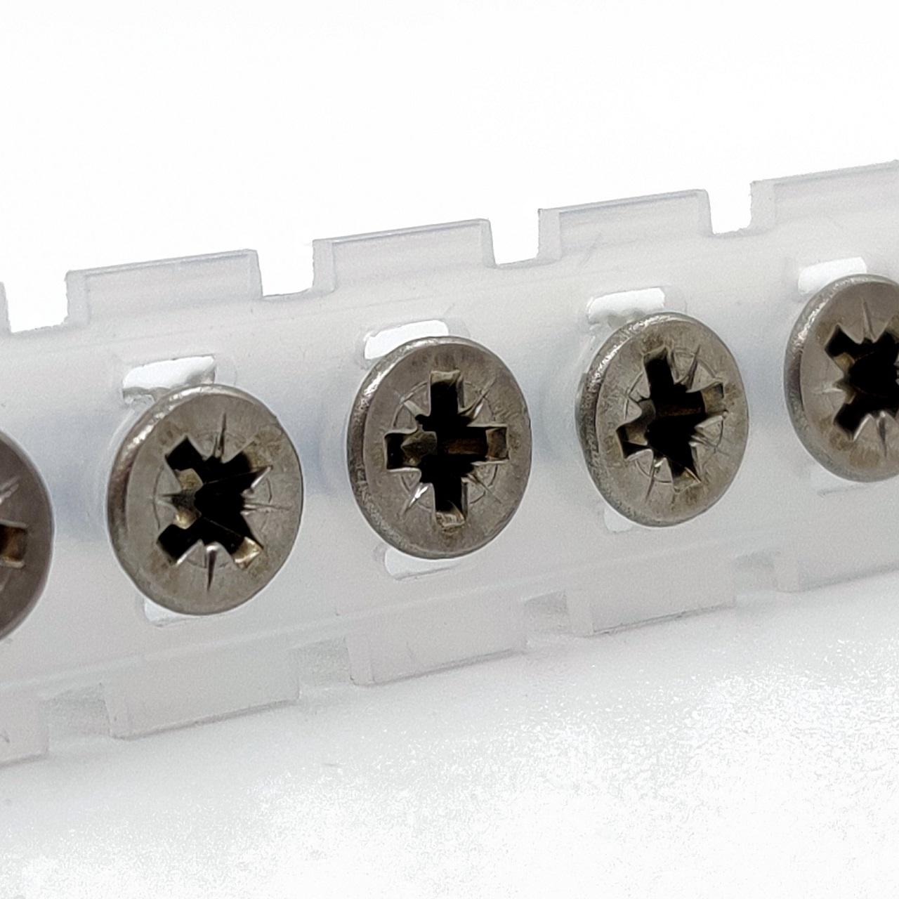 Magazinierte Spanplattenschrauben   rostfrei A2   PZ2   4,0x40   1.000 Stk