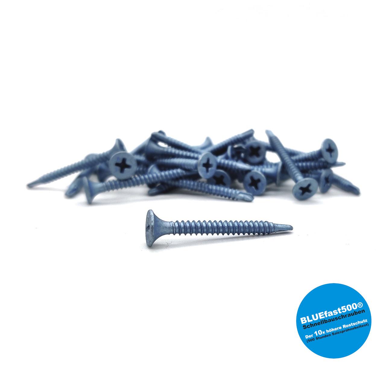 BLUEfast500® Schnellbauschrauben | Bohrspitze