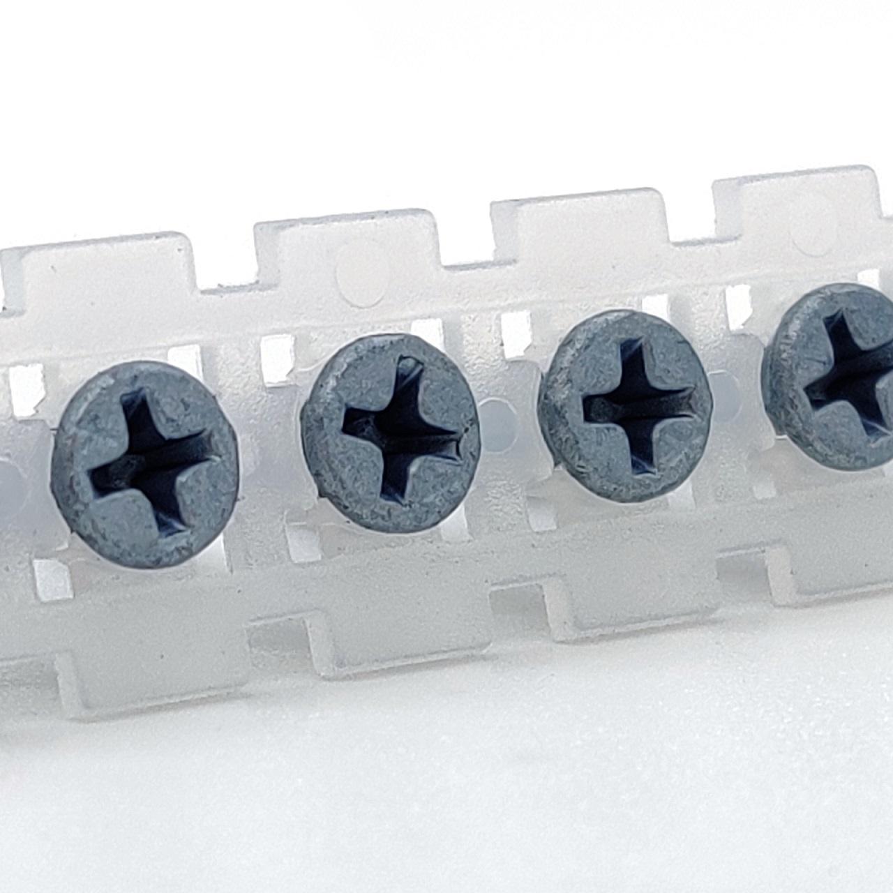 Magazinierte BLUEfast500® Faserplattenschrauben | Hi-Lo-Gewinde | 3,9x19