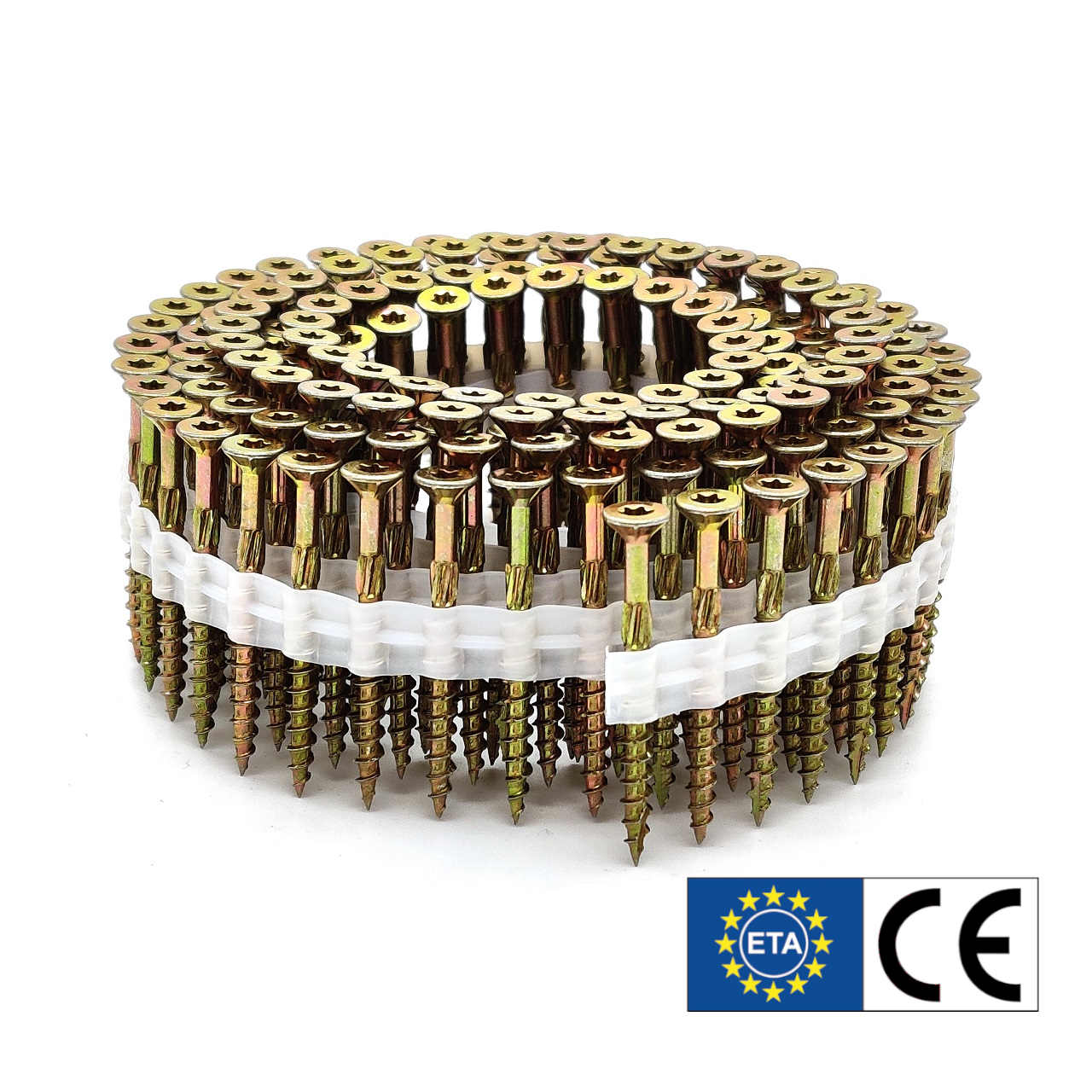 Coil adunox-SuperUni Holzschrauben / Spanplattenschrauben | gelb verzinkt | 5,0x50 | 1.125 Stk