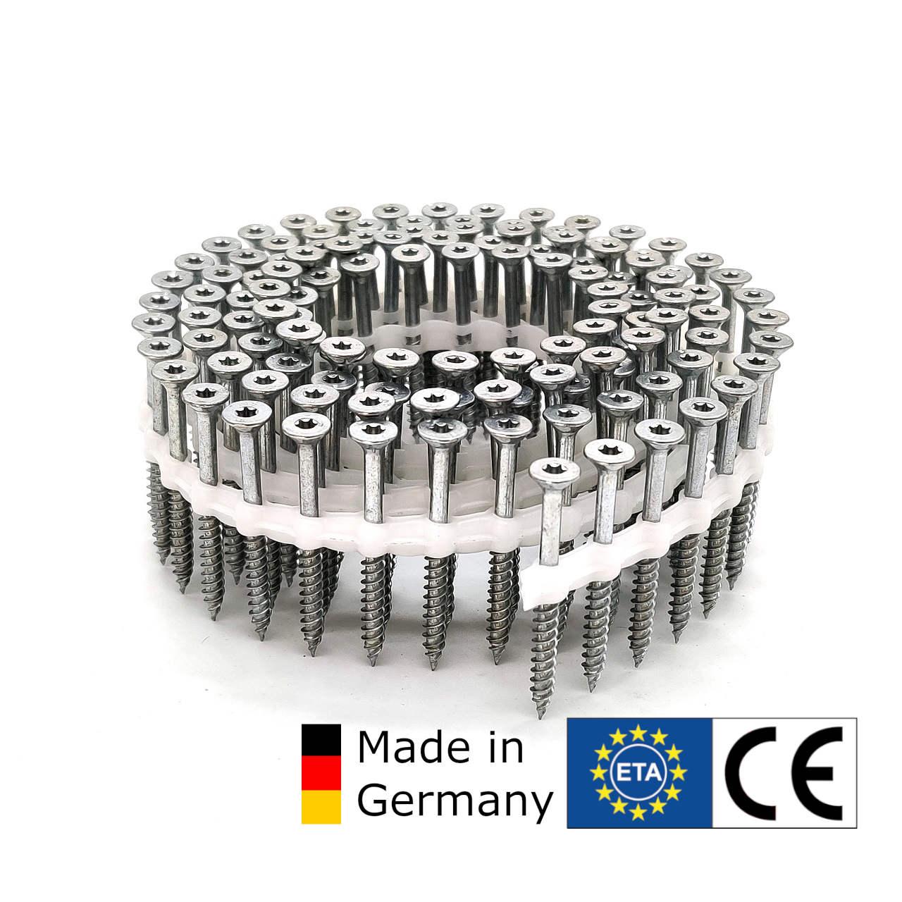 Coil TIMTEC ®- Universalholzbauschrauben | hell verzinkt | 5,0x80 | 750 Stk