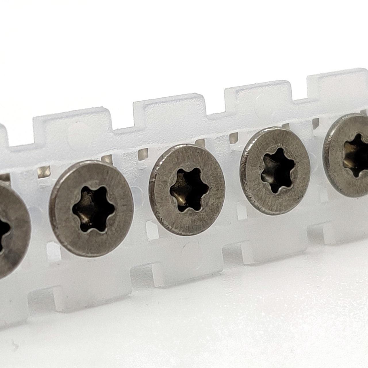 Magazinierte Spanplattenschrauben | rostfrei A2 | TX20 | 4,0x25 | 1.000 Stk