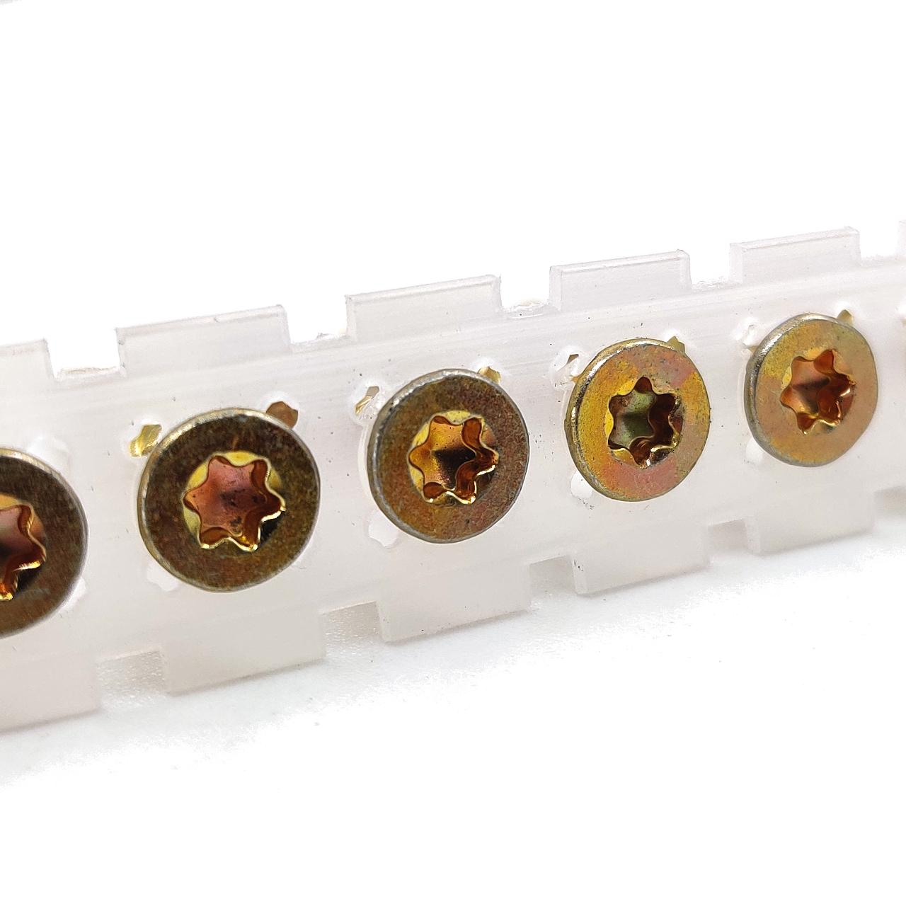Magazinierte Holzbauschrauben   gelb verzinkt   Teilgewinde   ETA   4,0x30   1.000 Stk